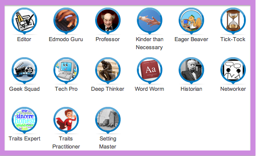 Edmodo Badges for HF