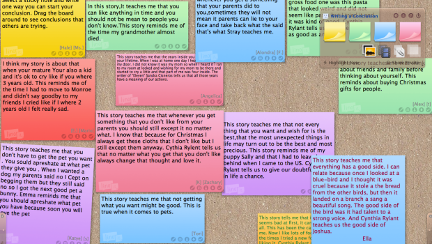 Linoit Board - great for at home peer learning and formative assessment!